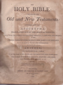 Carey Bible Title Page 1812