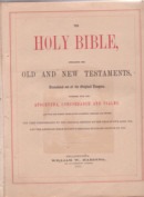 Wm. Harding Bible Title Page 1871