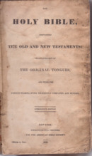 ABS Bible 1830 Title Page